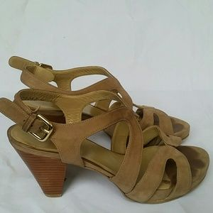 Stuart Weitzman leather sandals heels 6.5